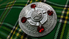 With Red Stone/Firefighters Plaid Brooches Tc Kilt Fly Plaid Brooch Firefighters