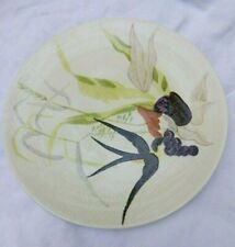 VINTAGE MCM RED WING POTTERY CAPISTRANO DINNER PLATE HAND PAINTED MARKED 1 OWNER