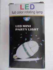 LED 3W Full Colour Rotating Party Light. ES E27 Screw Fitting. 85 - 260V Range.