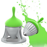 Silicone Tea Leaf Herbal Spice Infuser Stainless Steel Strainer Tool With Holder