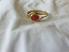 18k Gold and Coral ring - antique