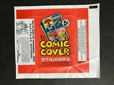 TRADING CARD WAX WRAPPER TOPPS COMIC COVER STICKERS