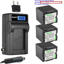 Kastar Battery LCD AC Charger for Panasonic CGA-DU21 CGR-DU21 NV-GS230 NV-GS250