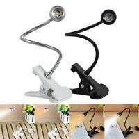 Flexible USB Reading LED Night Light Clip-on Beside Bed Table PC Desk Lamp Book