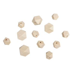 Beads Wood With Facets Natural - Rayher