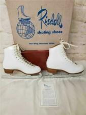 Riedell White Figure Ice Skates 320 Size 5 1/2 Excellent Redwing Minn Usa Made