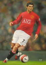 Cristiano Ronaldo, Manchester United - Original Soccer Poster Oil Painting XL