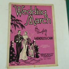 piano music MENDELSSOHN wedding march