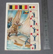 CHROMO 1900-1914 BON-POINT IMAGE ECOLE PAVILLONS MARINE BELGIQUE BELGIË
