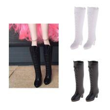 "2 Pairs High Heel Boots Rainshoes for 12"" Blythe 1/6 BJD Dolls White + Black"