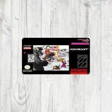 Étiquette SNES / Sticker : Chrono Trigger [USA]