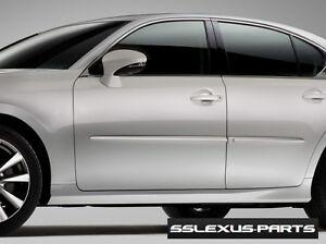 Lexus GS350 GS450H (2013-2018) OEM BODY SIDE MOLDINGS SET (Obsidian Black) (212)