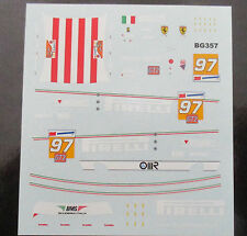 DECAL FERRARI F430 GT2 24H LE MANS 2009 #97 BMS SCUD.ITALIA BBR 1/43 COD.BG357