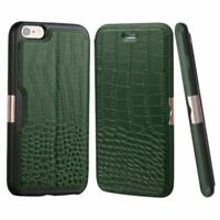 Green Crocodile Genuine Leather Case Cover Skin For Apple iPhone 6 6S Plus