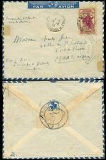 INDOCHINA 1939 AIRMAIL MILITARY CENSOR AUGUST to MARTINIQUE