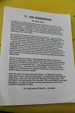 Velzy Surfboards V-Fin Noserider Longboard Rare 90's Surfing Ad. 8.5x11in. Sheet