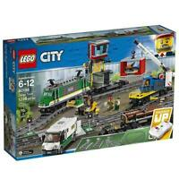 LEGO City Cargo Train 60198 Remote Control Train Building Set with Tracks NIB