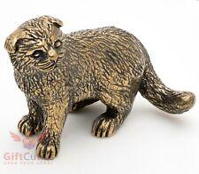 Bronze Figurine of Scottish Fold cat