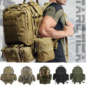 50L Tactical Military Backpack Army Assault Pack Built-up Bag Outdoor Rucksack