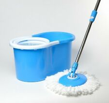 DELUXE Spin Magic Mop BLUE HD Easy Life 360 Bucket Spinning As Seen on TV