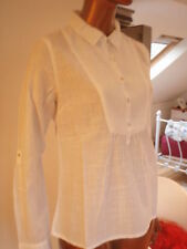 WHITE STUFF No Pattern Cotton Long Sleeve Women's Tops & Shirts