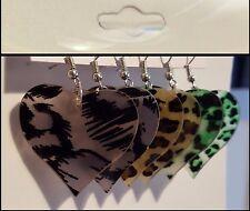 Women's Fashion Jewelry New Leopard Print Plastic Drop Dangle Heart Earring Set