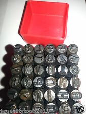 36 PC STEEL METAL LETTER AND NUMBER STAMP PUNCH STAMPING STAMPER TOOL METAL