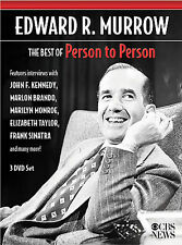 Edward R. Murrow: Best of Person to Person 3x DVD, 2006 Marilyn Monroe Sinatra