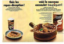 Publicité Advertising 1970 (2 pages) Le cassoulet Saupiquet par Hoffner