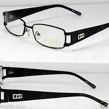 New DG Eyewear Clear Lens Frames Glasses Rectangular Fashion Mens Womens Black