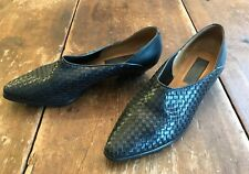 Vintage 1970's Ipanema Black Woven Leather flats shoes 7.5 8N