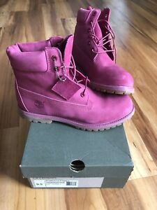 Pink Womens Timberland Boots Size 9.5