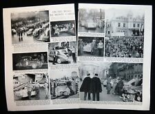 MONTE CARLO RALLY DUCHESS NEWCASTLE MICHAEL CROSBY ETC 2pp PHOTO ARTICLE 1954
