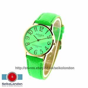 Azaza Gents/Unisex Watch, Green Dial & Strap, Silver Finish