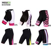 Women Padded Cycling Shorts MTB Bike Gel Pad Short Pants Tights Bicycle Clothing