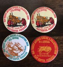 4 Pinback Buttons Old Trusty Antique Tractor Engine Show Clay Center NE Farm