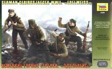 "Zvezda 1:35 German Gebirgsjaeger ""Edelweiss"" WWII Figures Model Kit"