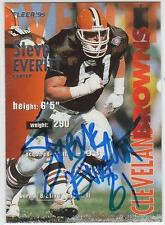 STEVE EVERITT Autographed Signed 1995 Fleer card Cleveland Browns COA