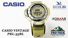CASIO VINTAGE  PRL-35BL PROTREK SERIE BIRDLIFE TWIN SENSOR QW.1889 JAPAN WR.100M