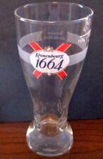NEW  BRITISH / UK - KRONENBOURG 1664 LAGER HALF PINT BEER GLASS (pre 2006)