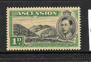 ASCENSION   1938   1d   KGVI  PICTORIAL   MLH   SG 39