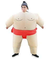 Inflatable Sumo Wrestler Costume Suit Blow Up Outfit Cosplay Halloween Carnival