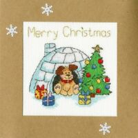 Winter Woof - Bothy Threads - Margaret Sherry - Cross Stitch Greeting Card Kit