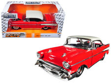 1/24 Jada 1957 Chevrolet Bel Air Red with Top White BigTime Muscle Red 98944