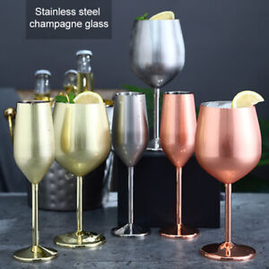 Stainless Steel Wine Glass Unbreakable Shatterproof Champagne Goblet Wine Cup AU