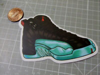 RETRO JORDANS TEAL SNEAKERS  MATTE  Sticker / Decal  Laptop Skateboard NEW