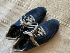 Cole Haan Shoes Navy Blue Suede Lace Up Nikeair Sz 6 Women's Sneakers Comfort