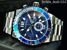 Invicta Men's 48mm Pro Diver OCEAN CRAWLER Chrono Blue Waves Dial Silver Watch