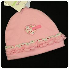 New NWT CARTERS CAP HAT~BABY GIRLS~PINK HEART+ FLOWER~Newborn 0-3 month & 3-9 M
