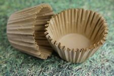 100x, 2.25'' Paper Cupcake Muffin Liners, Baking Cups, Unbleached Natural, Jumbo